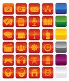 Iconos de los media del vector Fotos de archivo libres de regalías