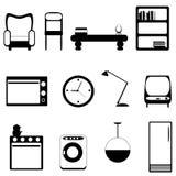 Iconos de los muebles libre illustration