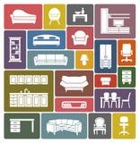 Sistema del icono de los muebles Fotografía de archivo
