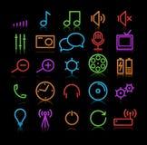 Iconos de los multimedia Foto de archivo