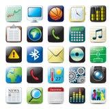 Iconos de los multimedia Foto de archivo libre de regalías