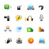 Iconos de los multimedia Imágenes de archivo libres de regalías