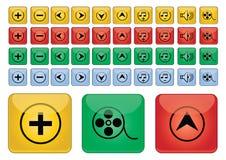 Iconos de los multimedia - vector Fotografía de archivo