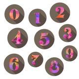 Iconos de los números fijados Foto de archivo