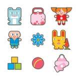 Iconos de los niños stock de ilustración