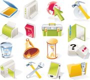 Iconos de los objetos del vector fijados. Parte 7 stock de ilustración