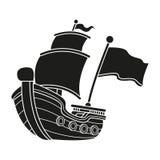 Iconos de los piratas fijados Imagen de archivo libre de regalías