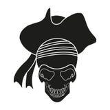 Iconos de los piratas fijados Imagenes de archivo