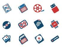 Iconos de los portadores de información Imagen de archivo libre de regalías