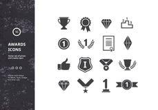 Iconos de los premios ilustración del vector
