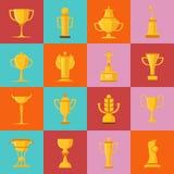 Iconos de los premios fijados Imágenes de archivo libres de regalías