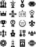 Iconos de los premios y de las concesiones stock de ilustración