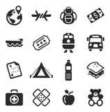 Iconos de los refugiados Foto de archivo libre de regalías