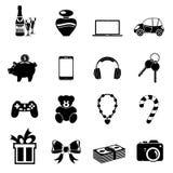 Iconos de los regalos de la Navidad Imagen de archivo