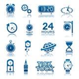 Iconos de los relojes y de los relojes Fotos de archivo libres de regalías