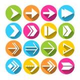 Iconos de los símbolos de la flecha fijados Fotos de archivo libres de regalías