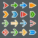 Iconos de los símbolos de la flecha fijados Fotografía de archivo