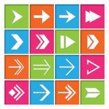 Iconos de los símbolos de la flecha fijados Imagenes de archivo