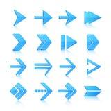 Iconos de los símbolos de la flecha fijados Imagen de archivo libre de regalías