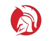 Iconos de los símbolos de Spartan Gladiator Logo Template Imagen de archivo libre de regalías