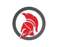 Iconos de los símbolos de Spartan Gladiator Logo Template Foto de archivo libre de regalías