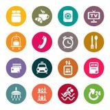 Iconos de los servicios de hotel stock de ilustración