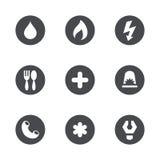 Iconos de los servicios sociales del vector fijados Fotografía de archivo