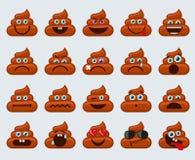 Iconos de los smiley de los emoticons del impulso stock de ilustración