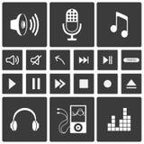 Iconos de los sonidos Imagenes de archivo