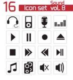 Iconos de los sonidos fijados Libre Illustration