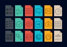 Iconos de los tipos de archivo del documento Fotografía de archivo libre de regalías