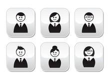 Iconos de los utilizadores - botones brillantes fijados Fotografía de archivo libre de regalías
