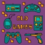 Iconos de los videojuegos ilustración del vector