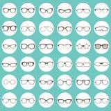 Iconos de los vidrios Imagen de archivo