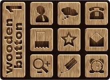 Iconos de madera Foto de archivo