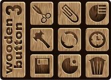 Iconos de madera Imagen de archivo