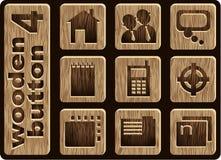 Iconos de madera Fotografía de archivo
