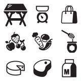 Iconos de Market Place Fotografía de archivo
