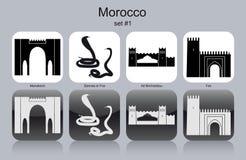 Iconos de Marruecos ilustración del vector