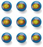 Iconos de Media Player Imagen de archivo libre de regalías