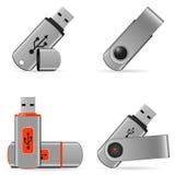 Iconos de memorias USB Foto de archivo
