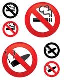 Iconos de no fumadores Fotografía de archivo