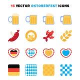 Iconos de Oktoberfest fijados Fotos de archivo
