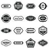 Iconos de oro fijados, estilo simple de las etiquetas Foto de archivo libre de regalías