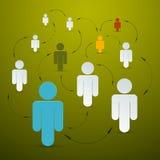 Iconos de papel de la gente del vector Fotografía de archivo libre de regalías