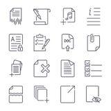 Iconos de papel Iconos de documento Vector eps10 Icono fijado con el movimiento editable ilustración del vector