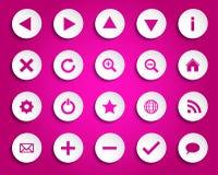 Iconos de papel simples del vector Imagen de archivo libre de regalías