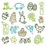 Iconos de Pascua Imágenes de archivo libres de regalías