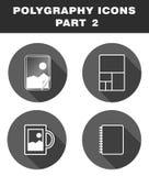 Iconos de Polygraphy Fotografía de archivo libre de regalías
