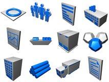 Iconos de proceso de la logística para el diagrama de la cadena de suministro Imágenes de archivo libres de regalías